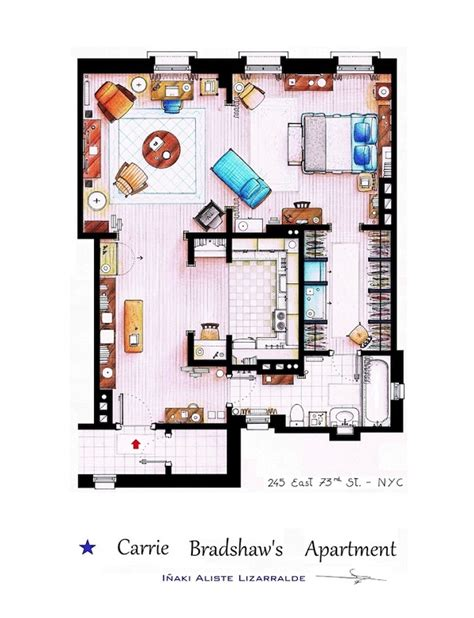 the floorplans of famous tv shows 1 design per day