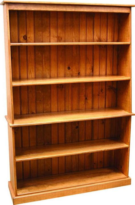 amish pine wood bookcase