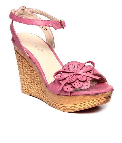 urbane pretty pink wedge heel sandals price in india buy