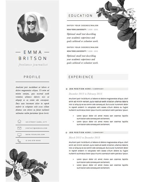 Good Resume Examples For Jobs by 13 Slick And Highly Professional Cv Templates
