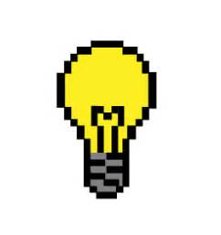 pixel light bulb by vincentdeville on deviantart