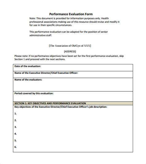 simple appraisal form
