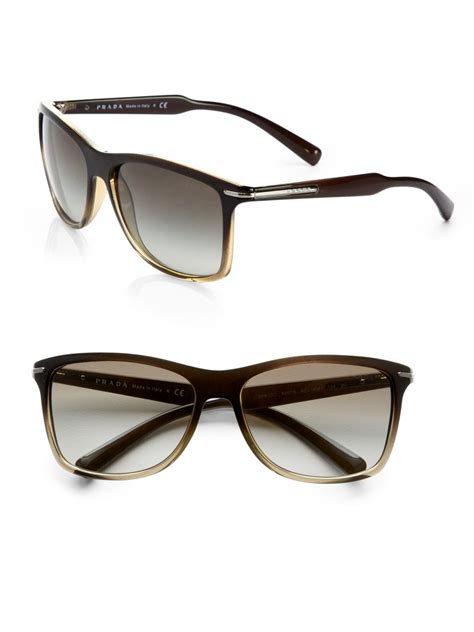 Prda Arrow prada arrow wayfarer sunglasses in green for lyst