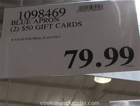 Costco Gift Card Deals - blue apron 2 50 gift cards costco weekender