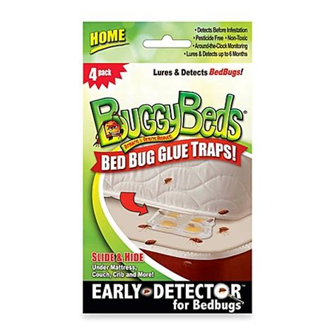 bed bug glue traps buggybeds 174 4 count home pack bed bug glue traps bed bath