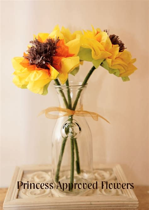 How To Make Sunflowers Out Of Tissue Paper - sunflowers tissue paper flowers