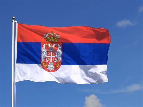 drapeau serbie grand drapeau serbie avec blason 150 x 250 cm monsieur