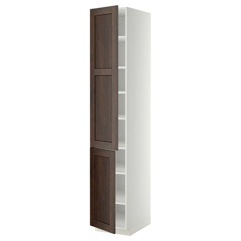 metod high cabinet with shelves 2 doors white edserum