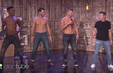 magic mike live dancers teach watch hotties of magic mike live teach ellen s producer