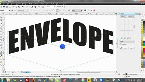 how to curve text in coreldraw x5 corel draw text effects training tutorials envelopes