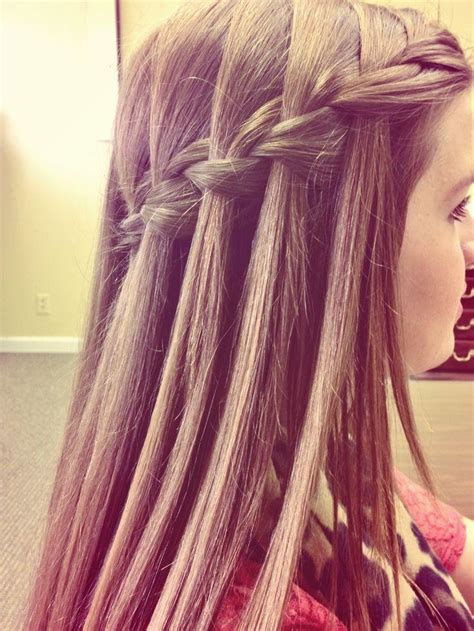 hairstyles how to do a waterfall messy waterfall braids short hairstyle 2013