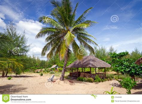 Tropical Hut Tropical Hut At The Stock Photos Image 27945383