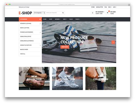 E Shop Free Multipurpose Ecommerce Website Template Colorlib E Commerce About Us Template