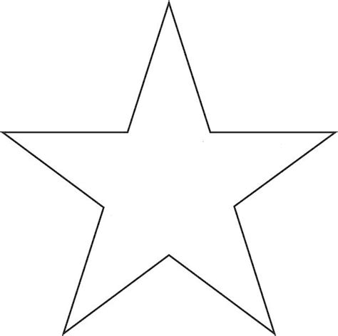 printable big star 9 best images of 5 point star template printable circle