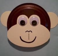 Monkey Paper Plate Craft - vbs safari crafts