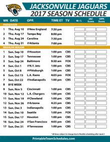 Jacksonville Jaguars 2015 Preseason Schedule Printable Team Schedules Nfl 2015 The Knownledge