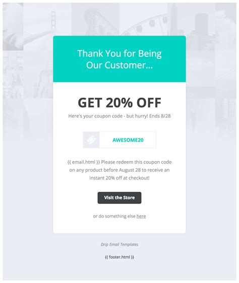template promo code drip email templates easy to import drip email templates