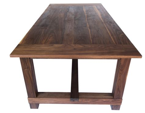 republic table in black walnut farmhouse dining tables