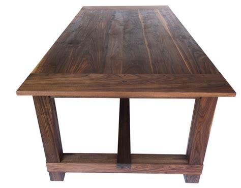 republic table in black walnut farmhouse dining tables