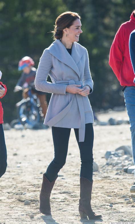 duchess of cambridge kate middleton wears sentaler coat during last day in yukon