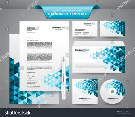 free business card letterhead envelope template complete set business stationery template such stock