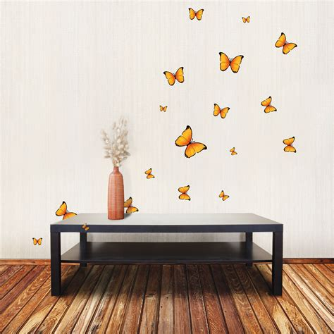 Yellow Butterfly Wall Stickers Decor For Baby Nursery Rooms Butterfly Wall Decals For Rooms