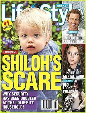 Exclusive Brangelina Threat Lifestyle Magazine by Shiloh S Scare Brad Pitt