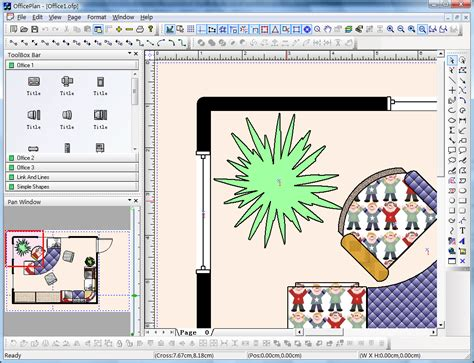 office layout diagram visio like diagram drawing tool with vc source code