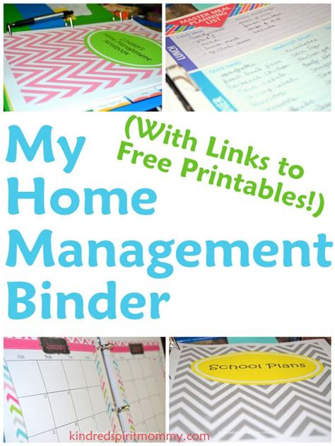 free printable home organizer notebook home management binder with links to free organizing