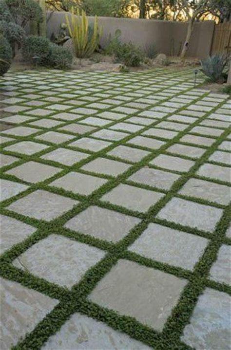 Patio Pavers With Grass Inbetween Grass In Between Pavers Backyard
