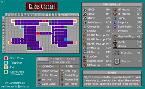 Order 3 Item Neno kalidus channel map