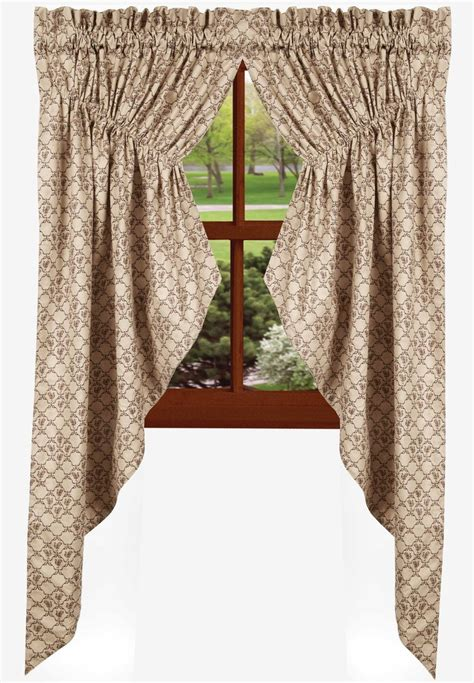 gathered swag curtains chanticleer gathered swag curtain black