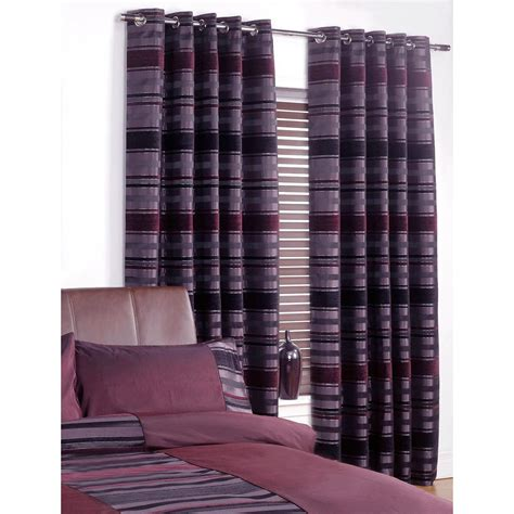 chenille faux silk curtains luxury striped eyelet ring
