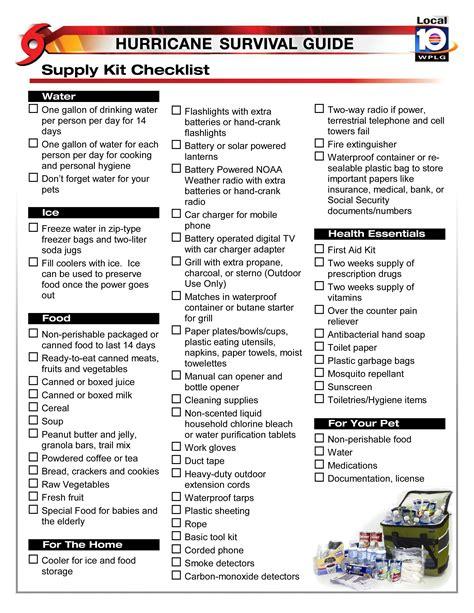 hurricane supply kit checklist max mayfield s hurricane blog
