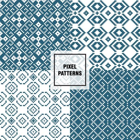 pixel pattern ai abstract pixel patterns vector free download