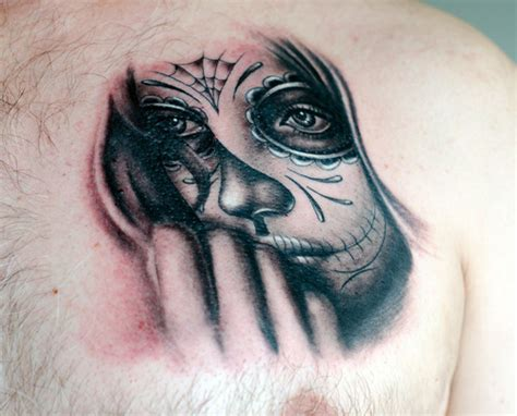 day of the dead face tattoo car mexican day of the dead skull