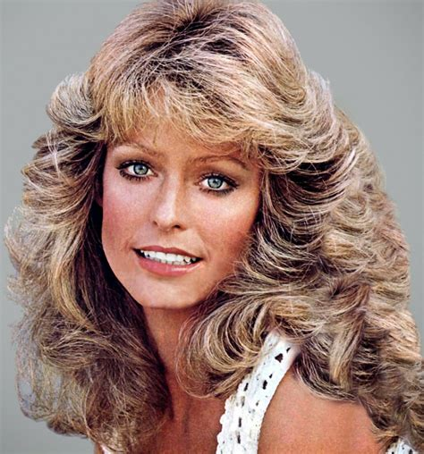 updated farrah fawcett hairstyle 80s feathered hairstyles long hairstyles
