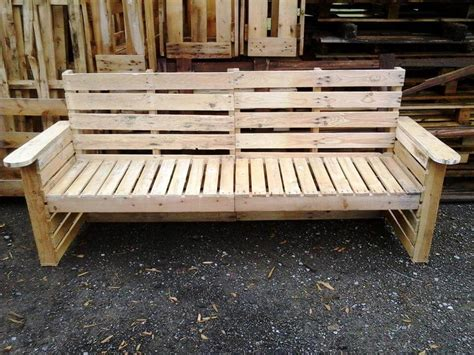 bench made out of pallets diy pallet bench and chair set 101 pallet ideas