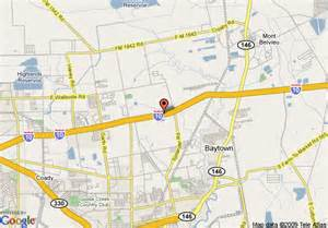 baytown map map of best western baytown inn baytown