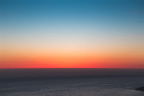 wallpaper horizon sea sunset sky hd widescreen high