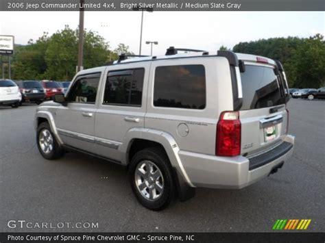 jeep commander silver bright silver metallic 2006 jeep commander limited 4x4