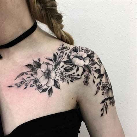 flower tattoo pictures and meanings shoulder flower tattoos designs ideas and meaning