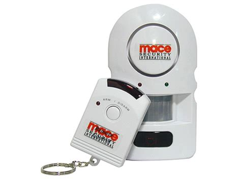 mace brand pir alarm remote home security 105 decibel