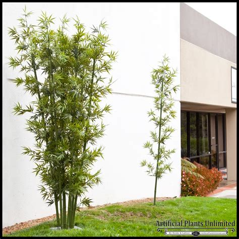lush artificial outdoor bamboo clusters artificial plants unlimited