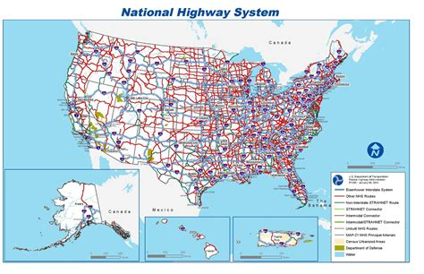 map us highway routes file national highway system map pdf wikimedia commons