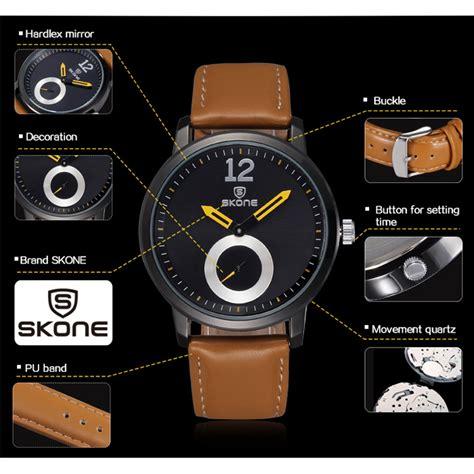 Skone Casual Leather Water Resistant 10m 9240 Black 1 skone casual leather water resistant 10m