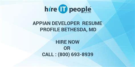appian developer resume resume ideas