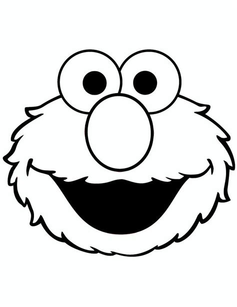 elmo stencil elmo coloring pages sesame street coloring