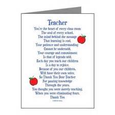 Appreciation Letter Preschool Teacher teacher appreciation thank you cards teacher appreciation note