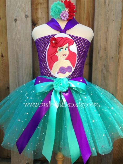 mermaid tutu dress set mermaid headband ariel tutu mermaid birthday dress mermaid birthday
